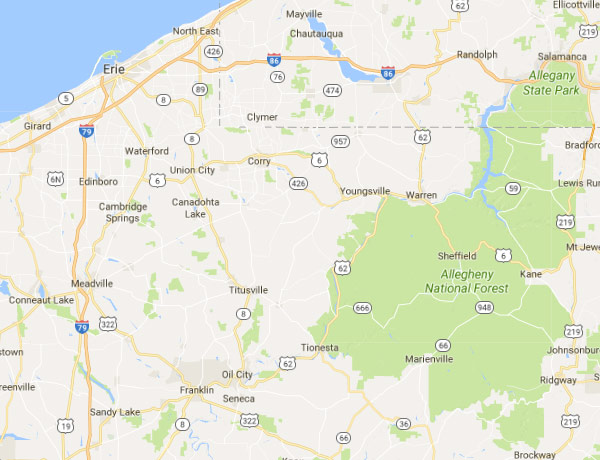 Erie PA Security Sales Territory