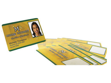 Partial-Printed ID Cards