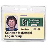 1815-1000 Textured Back Credit Card Badge Holders - Vertical/Horizontal